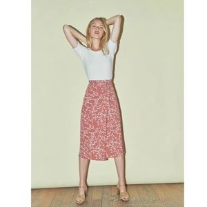Rouje Gabina wrap tea skirt